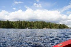 湖海岛 库存图片