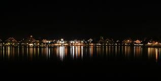 湖点燃反映 库存图片