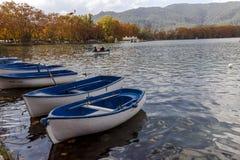 湖班约莱斯是最大的湖在卡塔龙尼亚 免版税库存图片
