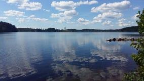 湖瑞典 免版税图库摄影