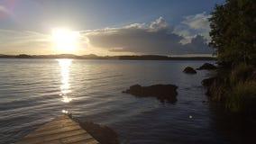 湖瑞典 免版税库存图片