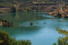 湖的一个接近的看法 免版税库存图片
