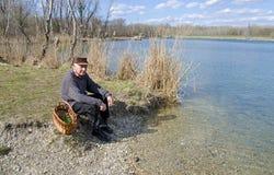 湖的前辈 库存照片