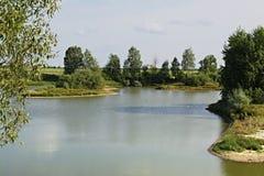 湖的南部的岸 库存图片