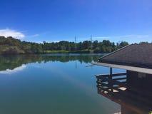 湖的宁静 免版税库存照片