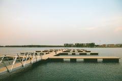 从湖的宁静 图库摄影