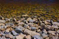 湖的岸 免版税库存图片