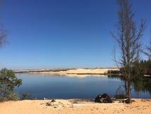 湖的横向 免版税库存照片
