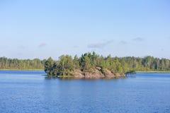 湖的海岛 库存图片