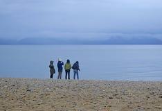 湖的看法 库存照片