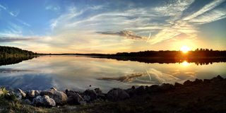 湖的看法 免版税库存图片