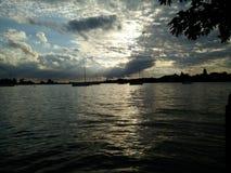 从湖的看法 库存照片