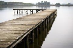 湖的码头 免版税库存图片