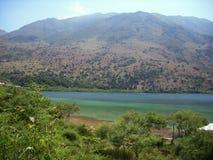 湖的美丽的景色 库存照片