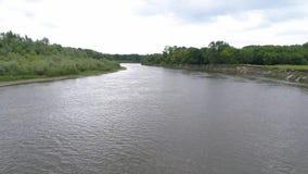 湖的航测 在湖的间距在乡下 免版税库存照片