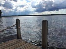湖的船坞 图库摄影