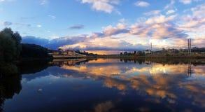 湖的议院 库存照片