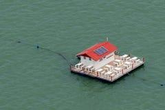 湖的餐馆在巴西的巴伊亚 免版税库存图片