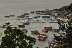 湖的,酸值Yo海岛,宋卡,泰国议院 库存照片