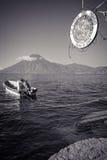 湖的Atitlan,危地马拉美丽如画的地点 免版税库存图片