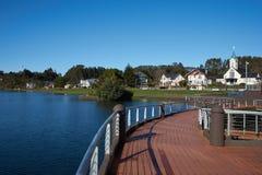 湖的Llanquihue剧院 免版税库存图片