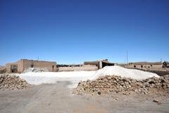 湖的Uyuni盐地窖 免版税库存图片