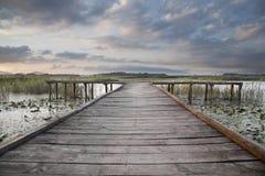 湖码头 库存照片