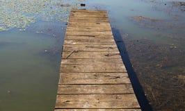 湖码头01 免版税库存图片