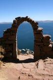 湖秘鲁titicaca 免版税库存图片