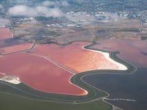 湖红色 库存照片