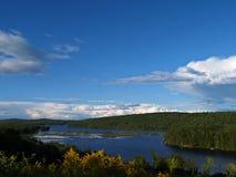 湖缅因俯视 免版税图库摄影