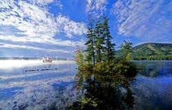 湖缅因 免版税图库摄影