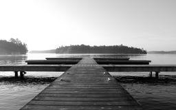 湖罗索, Muskoka,安大略,加拿大 免版税图库摄影