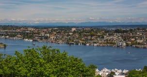 湖联合时间间隔在西雅图 股票录像