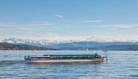 湖苏黎世在瑞士 库存图片