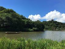 湖视图日本 库存图片