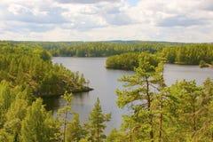 湖视图 芬兰 免版税库存照片