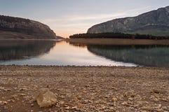 湖视图 图库摄影