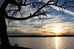湖设置 图库摄影