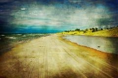 湖路径 免版税库存照片