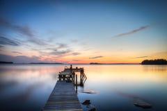湖边码头 免版税库存图片