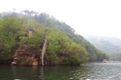 湖边长城 图库摄影