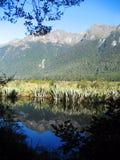 湖镜子 库存图片