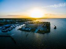 湖门罗鸟瞰图在桑福德佛罗里达 图库摄影