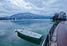 湖阿讷西,法国 库存照片