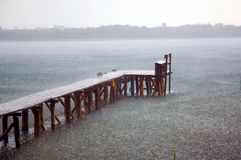 湖雨 库存图片