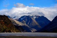 湖风景在西藏 图库摄影