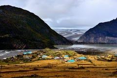 湖风景在西藏 库存图片