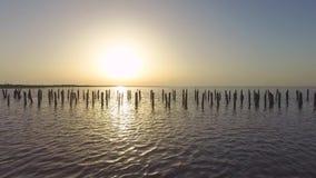 湖风景日落的,鸟瞰图 影视素材