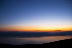 湖风景的奥赫里德 免版税库存照片
